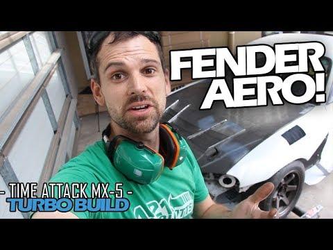 DIY FENDER VENTS - Episode 55 - Time Attack TURBO Build