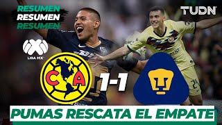 Resumen y Goles América 1 - 1 Pumas   L...