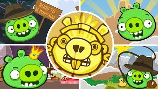 Bad Piggies - The Road To El Porkado 3 Star (Level 1 to 4) [Mobile Games]