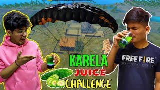 FREE FIRE || WE DID KARELA JUICE CHALLENGE GONE WRONG || RANK MATCH LIVE REACTION