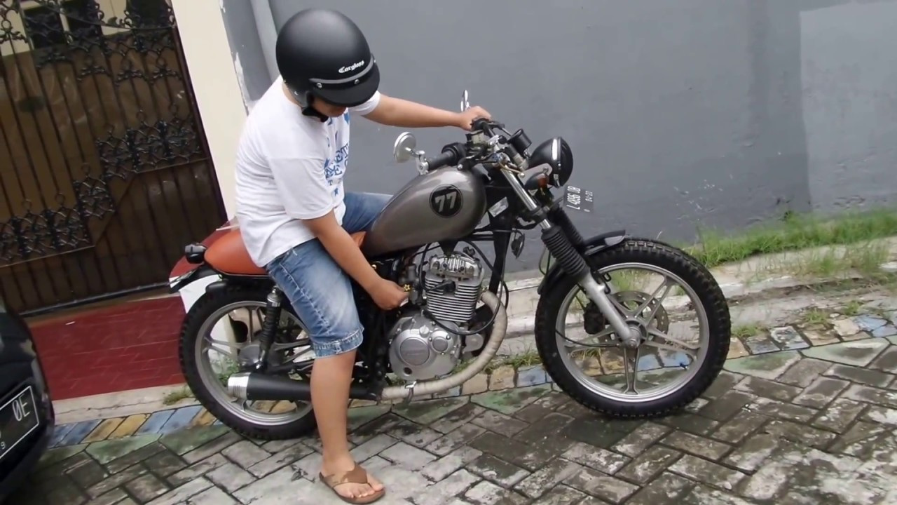 suzuki thunder 125 custom - youtube