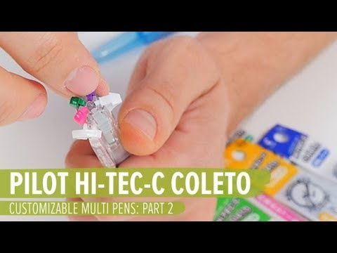 Customizable Multi Pens: Part 2 - Pilot Hi-Tec-C Coleto