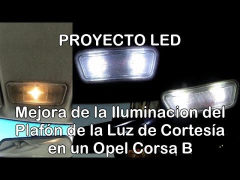 Cambio luces y mejora iluminacion del plaf n de la luz de cortes a de un opel corsa b proyecto - Poner luz interior coche ...