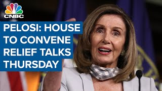 House speaker nancy pelosi sent a letter to her colleagues stating she wants convene pro-forma session tomorrow after president trump demanded m...