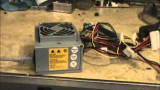 Using a computer power supply for powering a car radio: see description