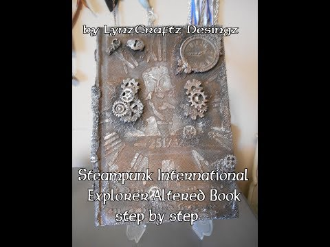 Steampunk International Explorer Altered Book step by step