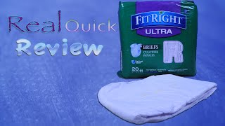 Real Quick Review Fit Right Ultra  #adultdiaper