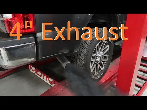 "2018 F250 Get's 4"" Exhaust and Fuel filters"