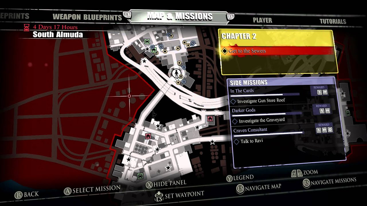 Dead Rising 3 world map on everybody's gone to the rapture map, dante's inferno map, left 4 dead map, hyrule warriors map, sunset overdrive map, midtown madness map, dead trigger map, crash twinsanity map, red dead map, infamous first light map, grand theft auto: san andreas map, dead island map, crimson alliance map, homefront map, dead space map, l.a. noire map, the evil within map, the walking dead map, mass effect map, h1z1 map,