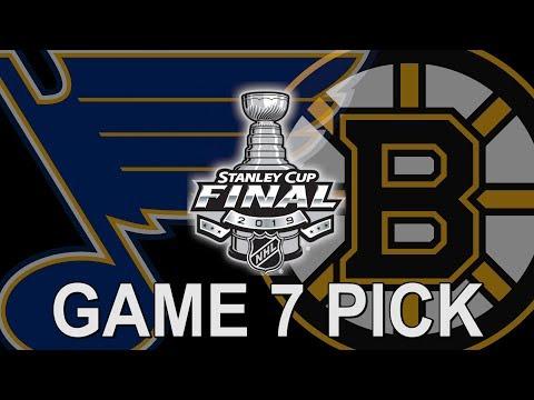Free NHL Betting Pick - St. Louis Blues Vs Boston Bruins Game 7 Stanley Cup Final