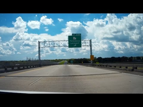 Road Trip #048 - US-90 West - Raceland to Morgan City, Louisiana