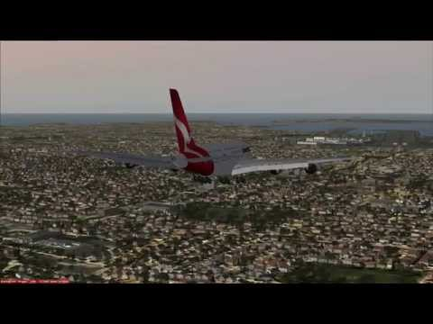 Qantas A380 QF2 Flight : London - Dubaï - Sydney (with sound)