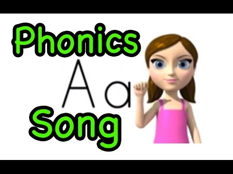 Alphabet Letter Sounds (Phonics) Song and ASL alphabet (American - 'zee' version)