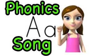 Alphabet Letter Sounds (Phonics) Song and ASL alphabet (American -