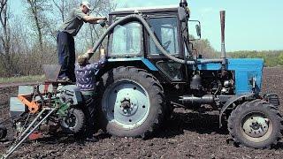 Сеем кукурузу | Трактор МТЗ-82 и ЮМЗ-6 | Сельское сафари!