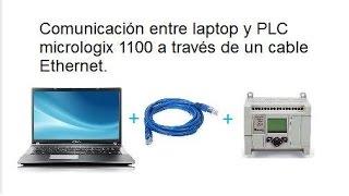 COMUNICACIÓN CON PLC MICROLOGIX 1100 A TRAVEZ DE CABLE ETHERNET