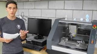 Fraiseuse CNC - Roland MDX-40A - [Basics] #4 Faire le zéro, 4 axes