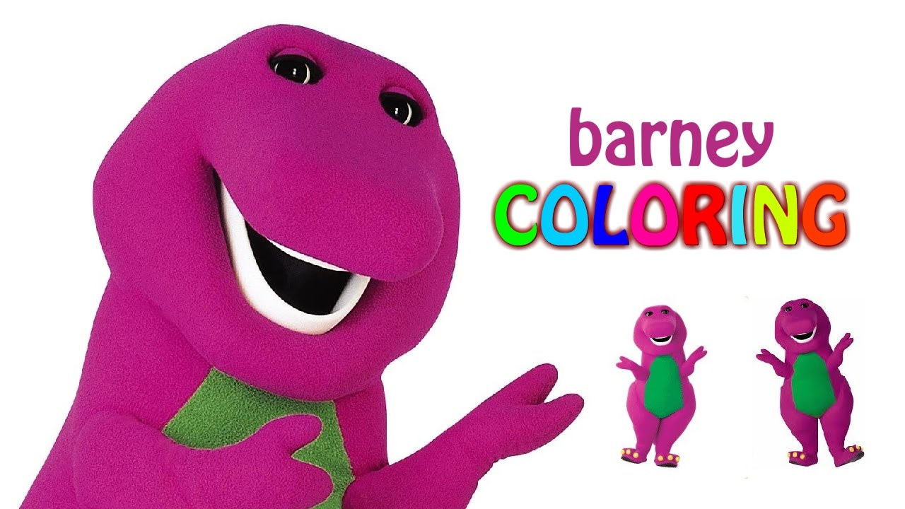 Barney Coloring Pages - Coloring Episode Barney Color - YouTube