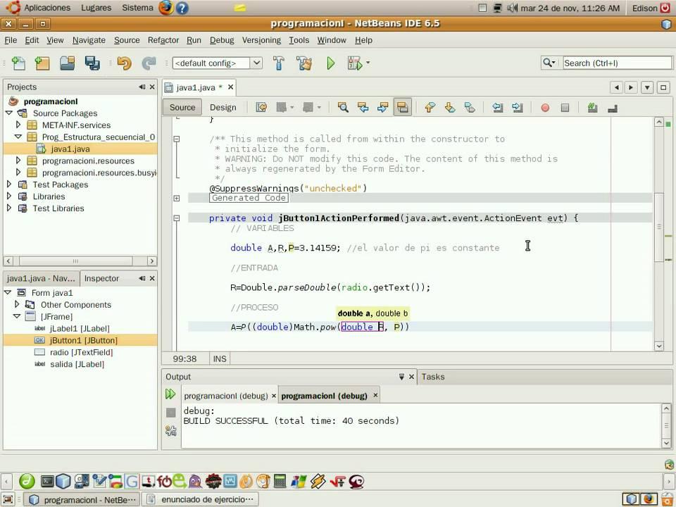 8 Programacion En Java Con Netbeans Estructura Secuencial