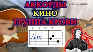 Аккорды Группа крови Кино разбор на гитаре видео урок.