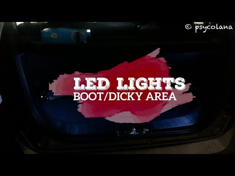How To Install LED Lights in the Boot or Dicky | Suzuki Wagon R