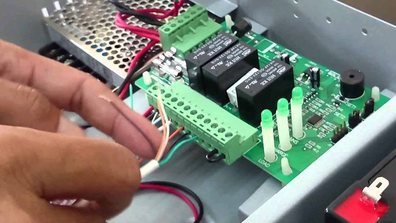 door access control system part 1 installing em lock bioxcess reader [ 1280 x 720 Pixel ]