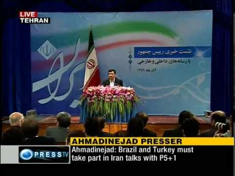 [P1/7] Pres. Mahmoud Ahmadinejad at press conference by domestic and foreign reporters [Nov 29,2010]