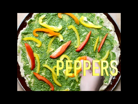 Spinach Pepper And Feta Pizza