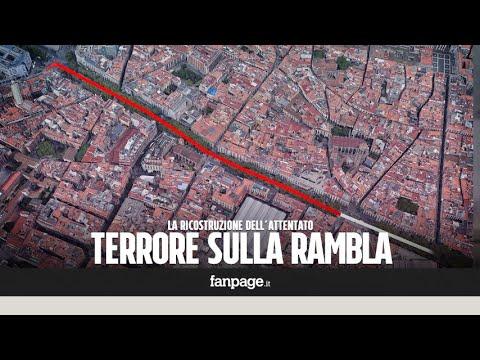Furgone sulla folla Barcellona, la ricostruzione dell