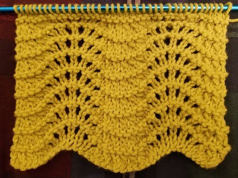 "The ""Feather & Fan"" Knit Stitch Tutorial!"