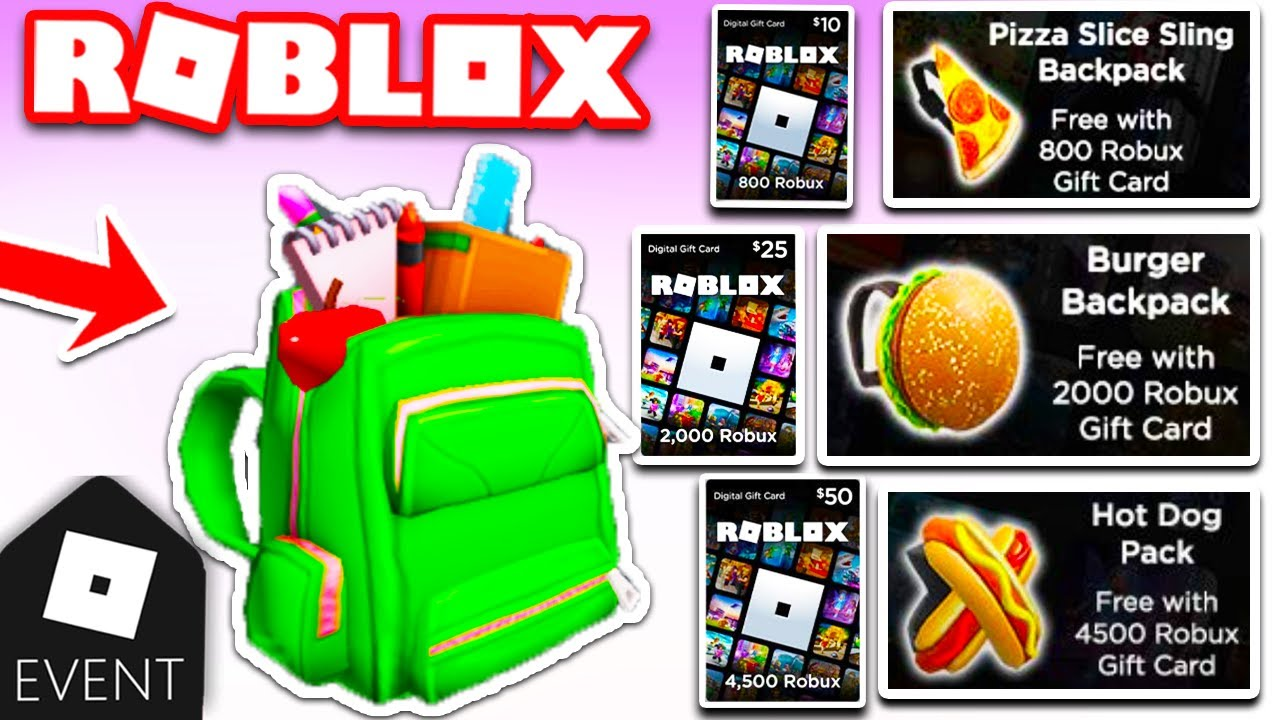 2000 Robux Gift Card New Roblox Promocode Roblox Fully Loaded Backpack Amazon Robux Gift Card Free Items Youtube