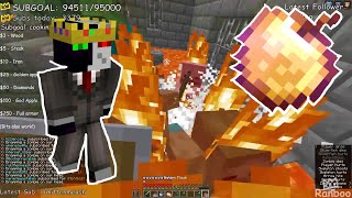 Ranboo is a GOD after his SUBS send TONS OF ZOMBIES in a CRAMPED STRONGHOLD! *Minecraft Challenge*