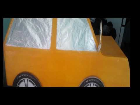 COMO HACER UN CARRO DE CARTON DONDE ENTRE UN NIÑO - YouTube