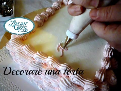 Decorate A Birthday Cake Using Piping Bag