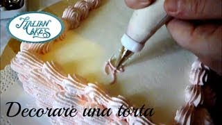 Decorare una torta di compleanno - Decorate a birthday cake by ItalianCakes