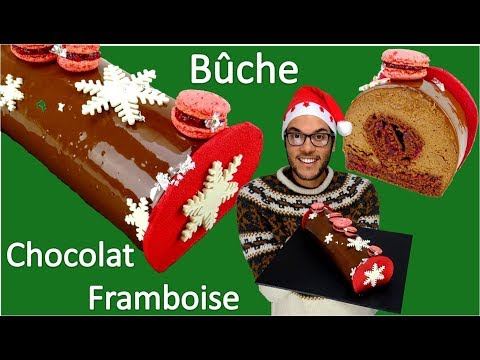 recette-buche-de-noel-chocolat-framboise-/-chocolate-raspberry-christmas-yule-log-(en-subs)