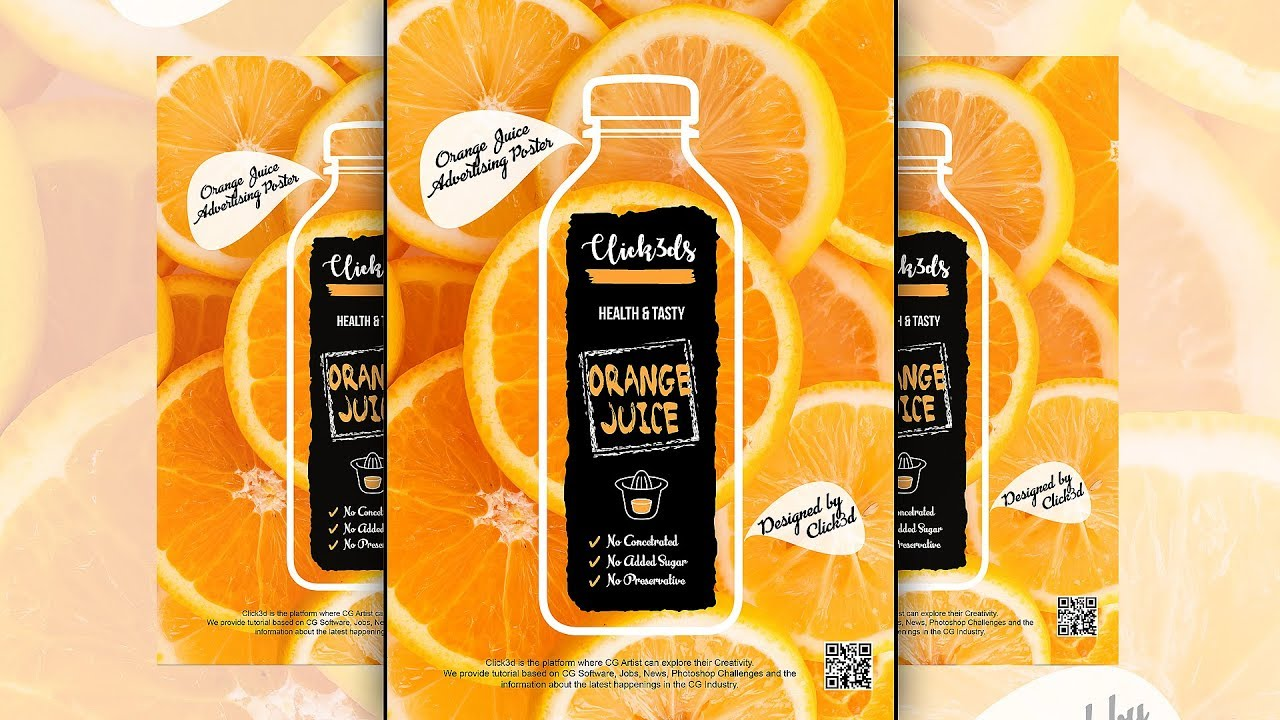 fruit juice - advertising poster