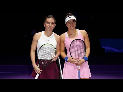"""SPARKS fly between Simona HALEP (ROU) and Bianca ANDREESCU at """"very special"""" 2019 WTA Finals"""