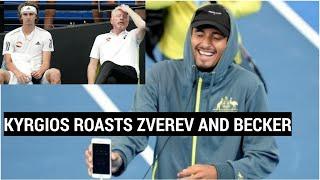 Nick Kyrgios Roasts Alexander Zverev And Boris Becker | Zverev Party After Adria Tour