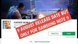 Fortnite Android Officially launch On 9 August 😠 But Only For Samsung Note 9