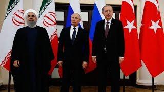 'Suriye' konulu Türkiye-Rusya-İran Üçlü Zirvesi'nin ardından açıklama yapılıyor