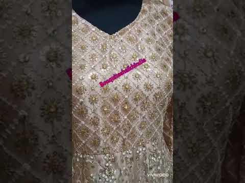 Gold Color Anarkali Baju India Customer Order