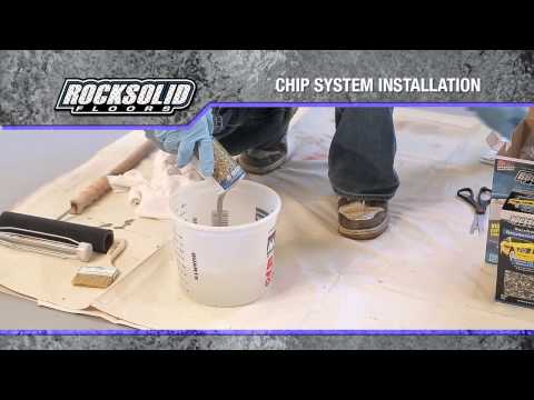 RockSolid Floors Chip System Installation