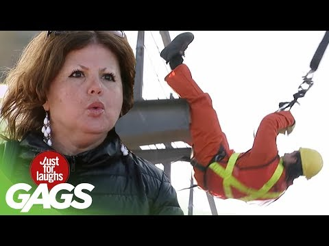 Worker Falls on the Job Prank - Just For Laughs Gags