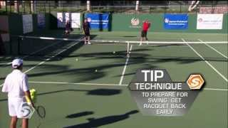 Tennis Net Drills with Coach Brad Gilbert