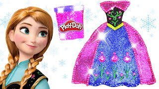 Video Play Doh Sparkle Barbie Disney Princess Frozen Anna Shoes High Heels Dress Spinner Play Doh Toys Kid download MP3, 3GP, MP4, WEBM, AVI, FLV Juni 2018