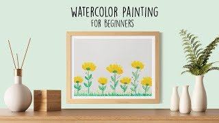 Watercolor Painting For Beginners    Easy Watercolor