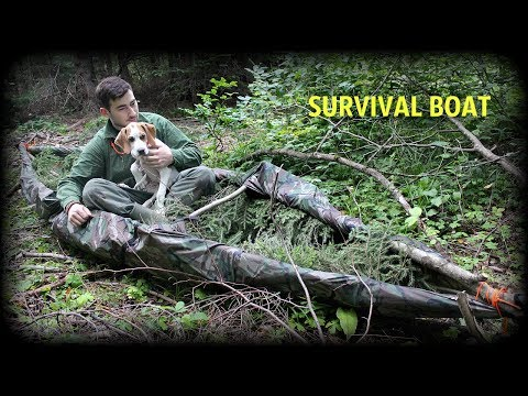 DIY SURVIVAL BOAT ! - For Fishing And Bushcraft - HD Video