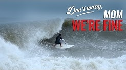 "Hurricane Joaquin Surfing 2015 - ""Don't Worry, Mom. We're Fine."" A Folly Beach Surf Video"