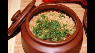 Перловка с мясом и грибами в горшочке: рецепт от Алейки